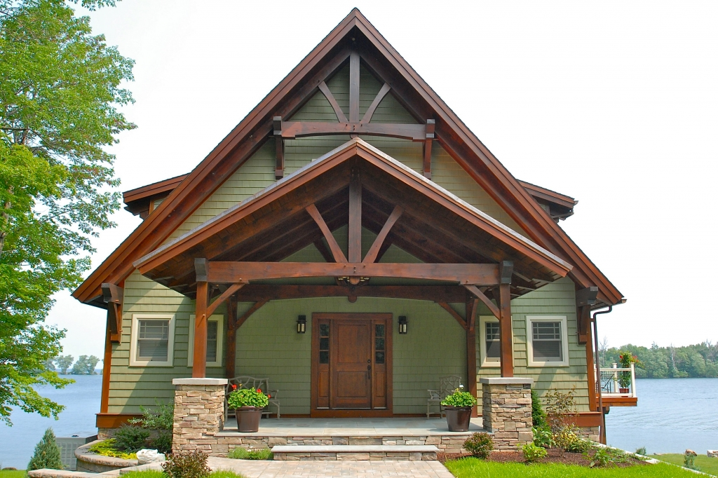 Timber frame homes post and beam homes ferraro Post frame homes plans
